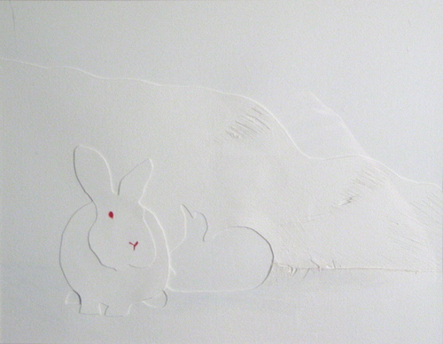 Drawing Quot White Rabbit In A Snowstorm Quot Original Art By