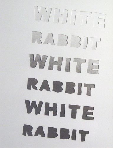 White Rabbit in a Snowstorm
