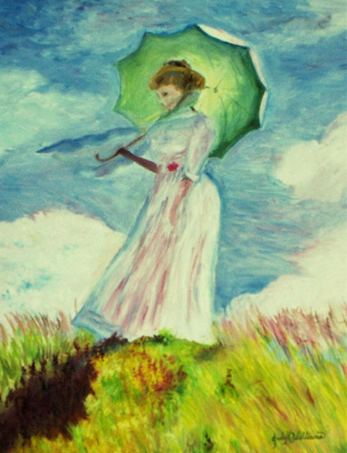 Girl with the Green Umbrella from Monet