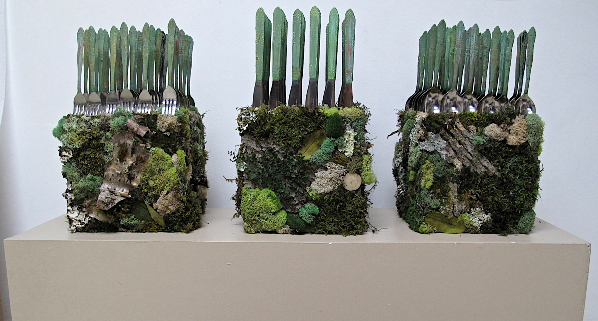 Forest Flatware Sculptures (large view)