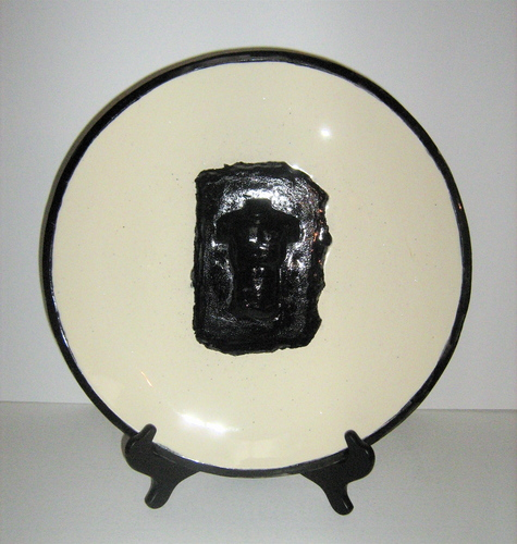 Black Torso Platter (large view)
