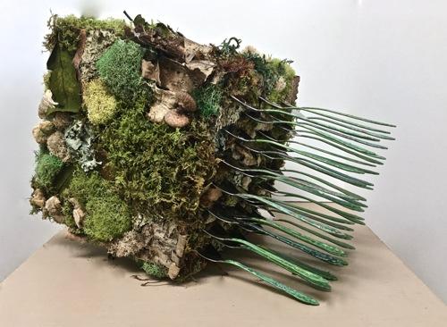 Fallen Forest Flatware Sculpture, (tipped) by Joy Kreves