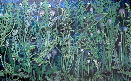 Twilight Dandelions by Joy Kreves