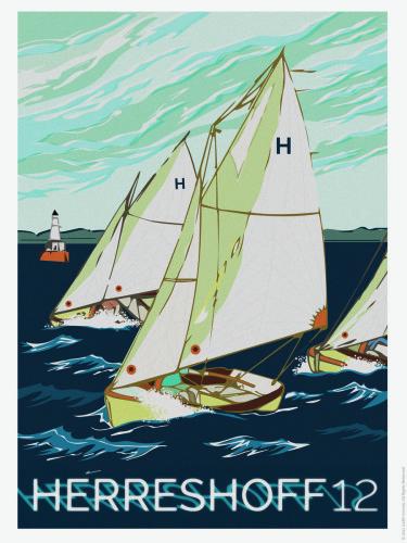 Herreshoff 12 Sailboat Poster