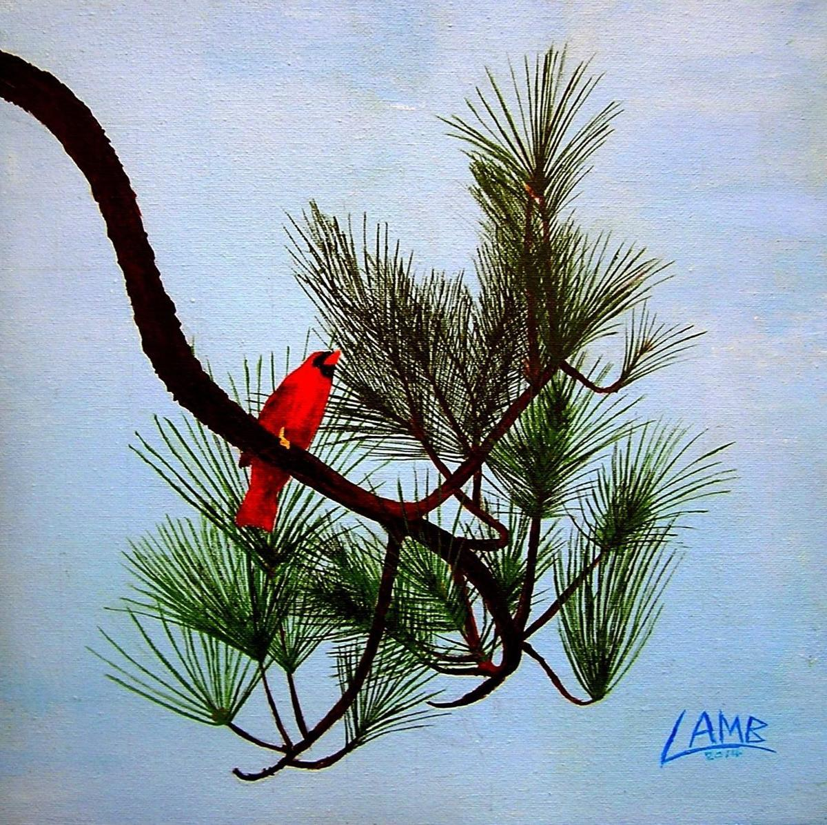 CARDINAL in PINE (large view)