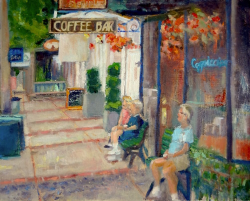 Sanctuary at the Coffee Bar by Josh Lance Art