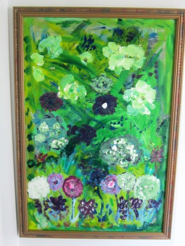 HOW GREEN IS MY GARDEN 27X39  ACRYLIC ON CANVAS