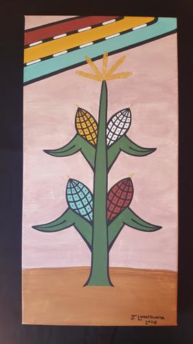 Hopi Cornstalk  by Justin Lomatewama