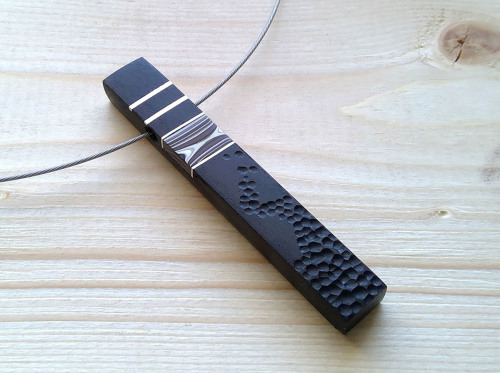 African Ebony with Fordite Inlay