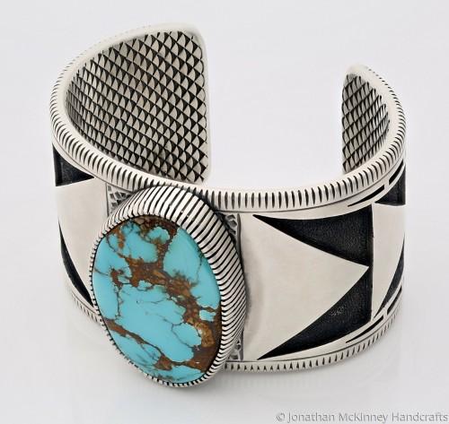 Warrior Cuff Bracelet in Natural Royston by Jonathan McKinney Jewelry