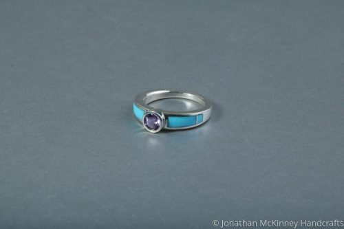 Solitaire Purple Sapphire and Sleeping Beauty
