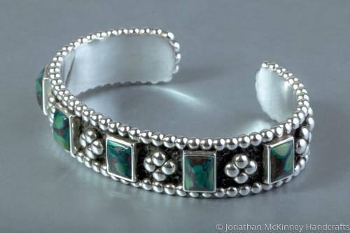 Raindrop Bracelet Hubei Turquoise by Jonathan McKinney Jewelry