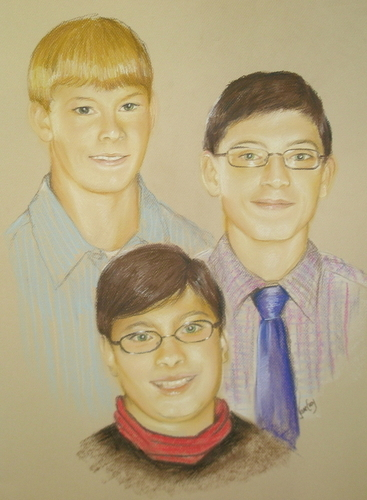Three boys portrait