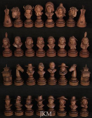 American Indian Wars Chess Set