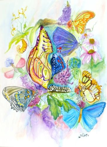 7 Butterflies by JEANNE M GEORGE