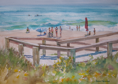 Jaycee Beach in the Spring by James Newman