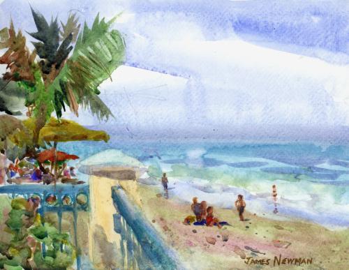 Mulligan's Beachside Scene