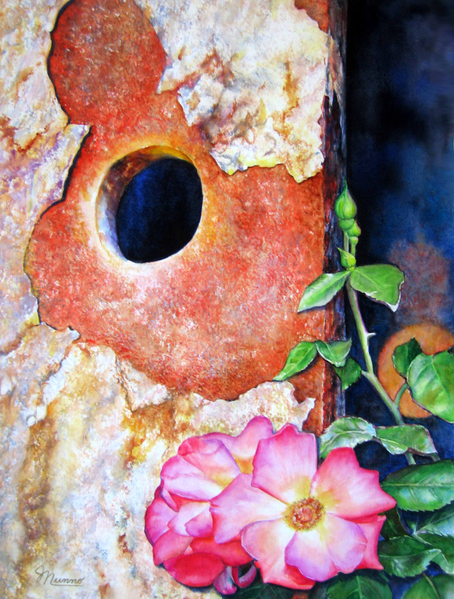 Judy Nunno, rust and roses (large view)