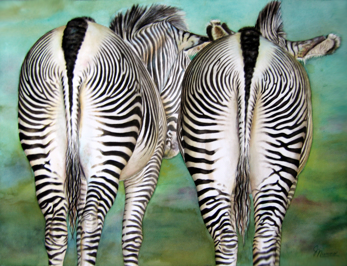 Judy Nunno, tail of two zebras (large view)