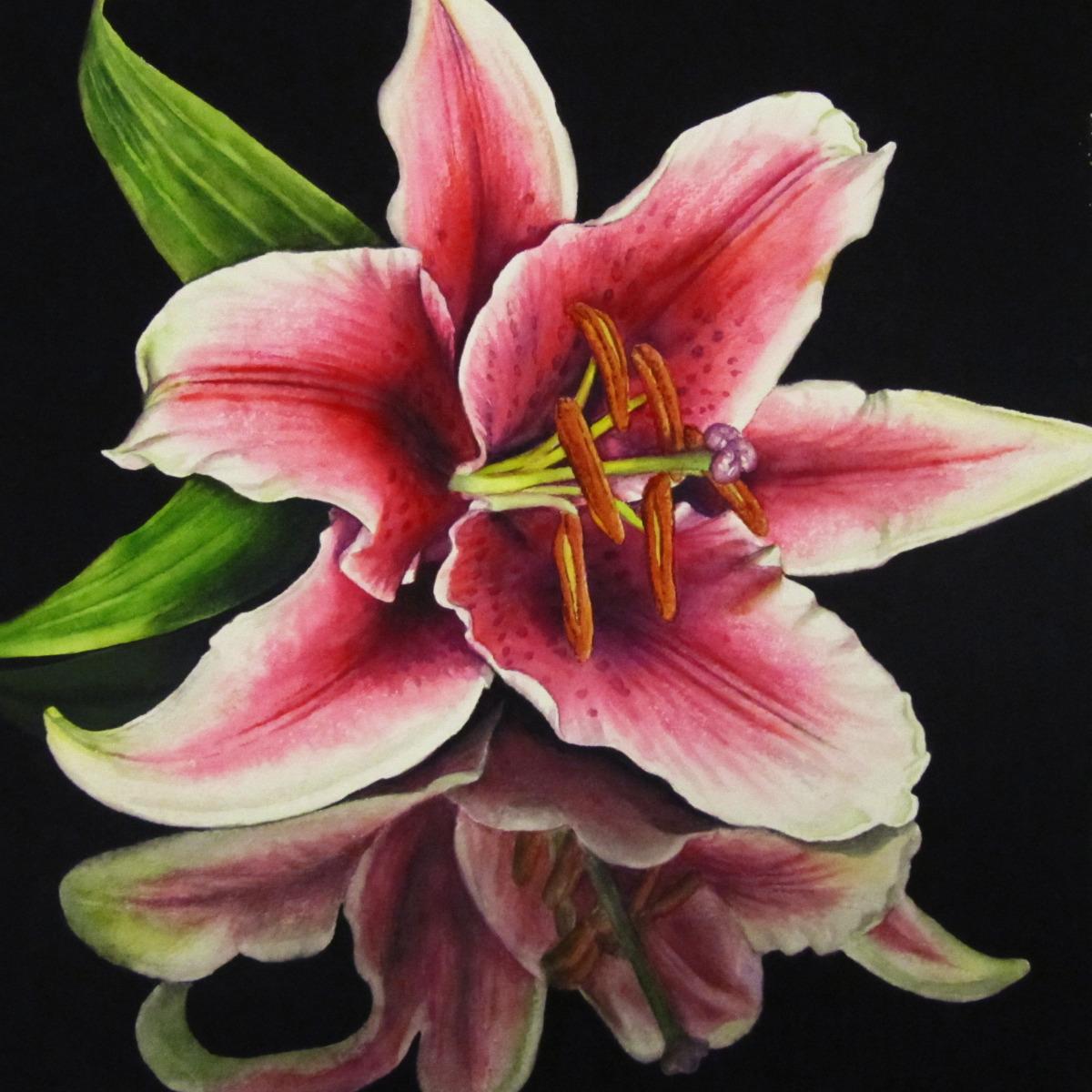 "Painting : ""Tiger Lily"" (Original art by Judy Nunno)"