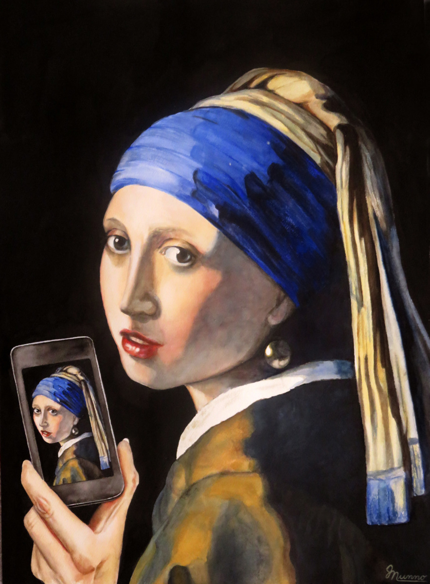Girl with a Selfie (large view)