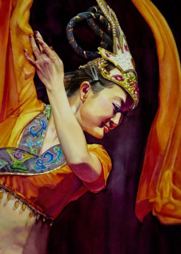 Scarf Dancer by Judy Nunno