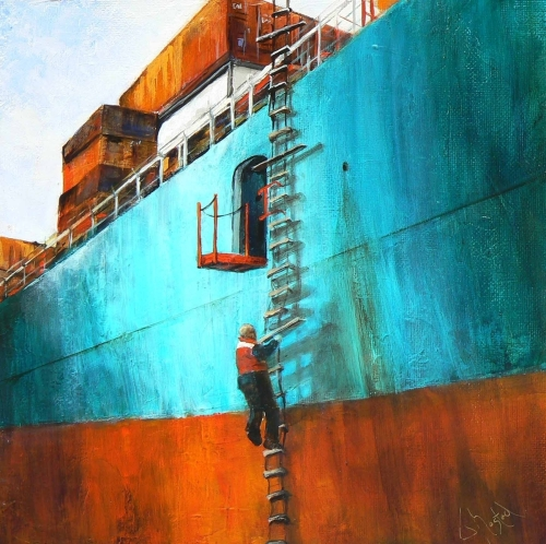 Freighter #3 by Joan Mostad