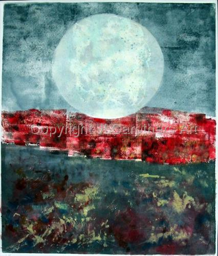 Moonrise Over Red