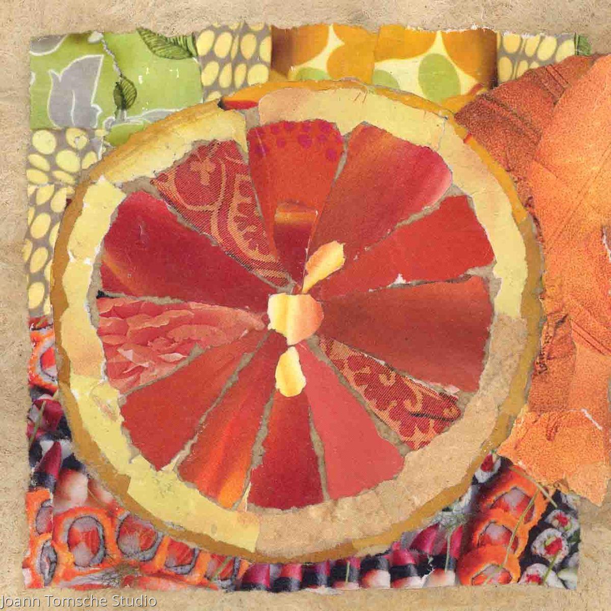 Sushi Fruit art tile (large view)