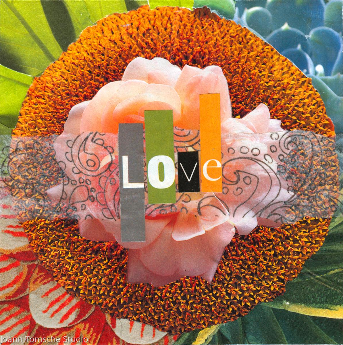 Sunflower Love art tile (large view)