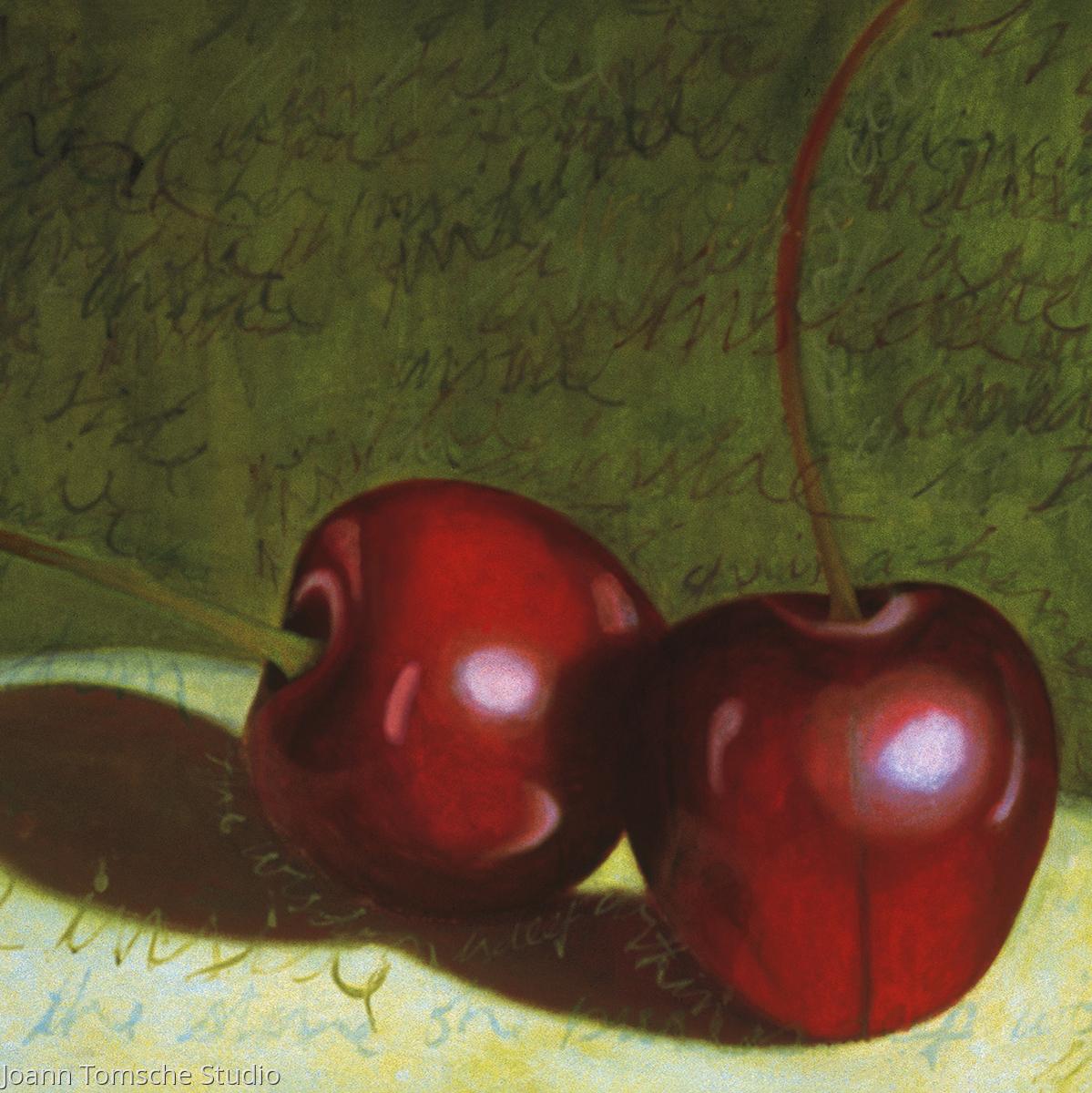 Cherries art tile (large view)