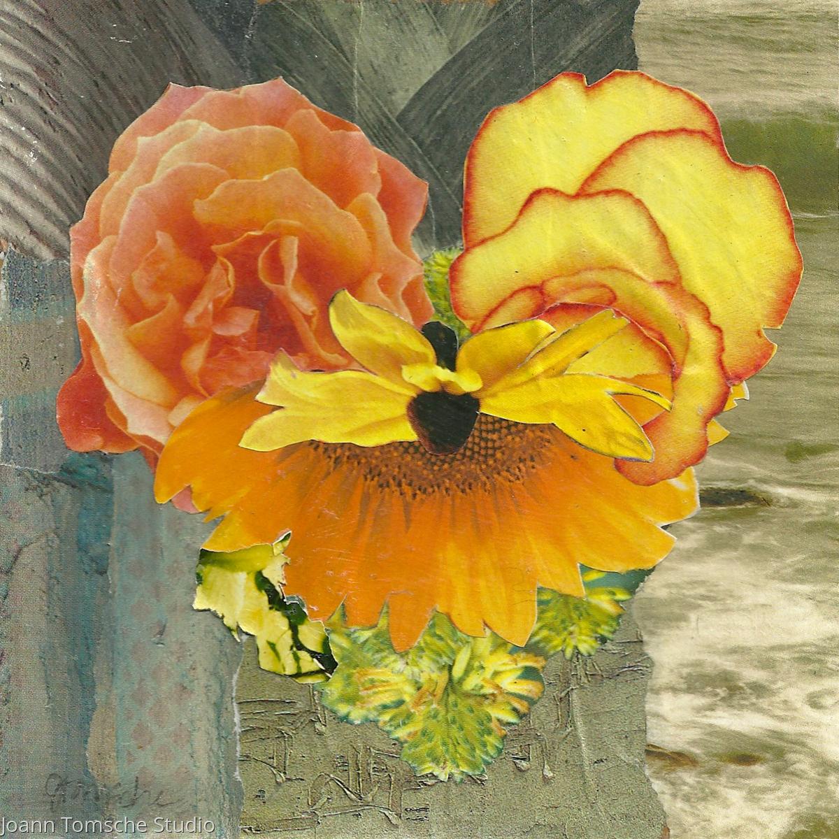 Flower Garden Heart collage (large view)