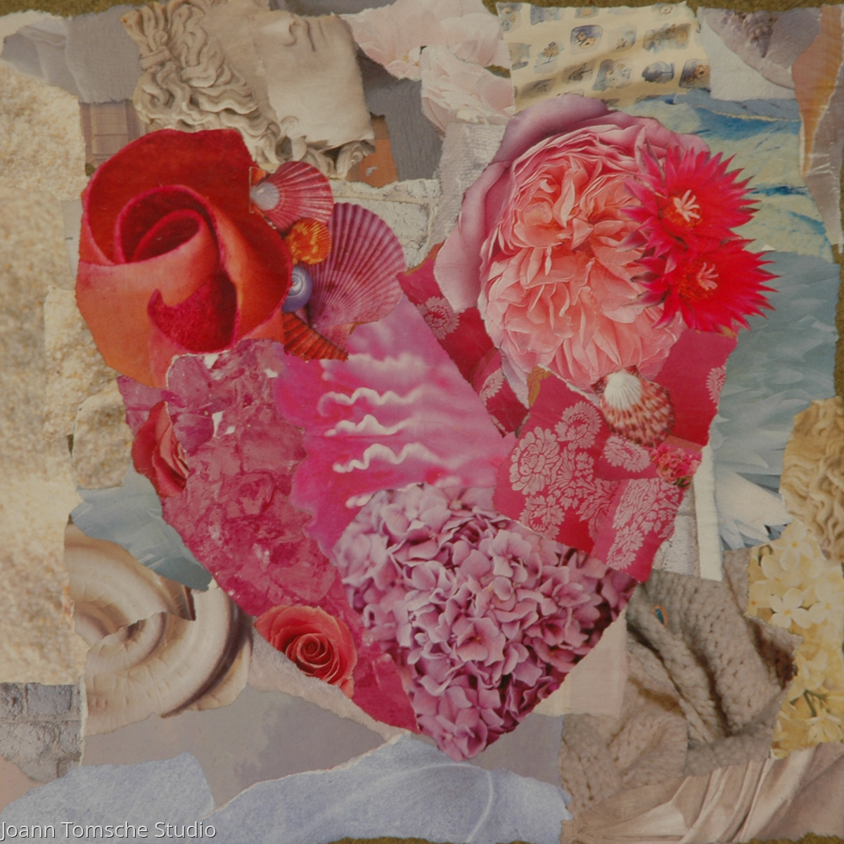 Heart Blossoms art tile (large view)
