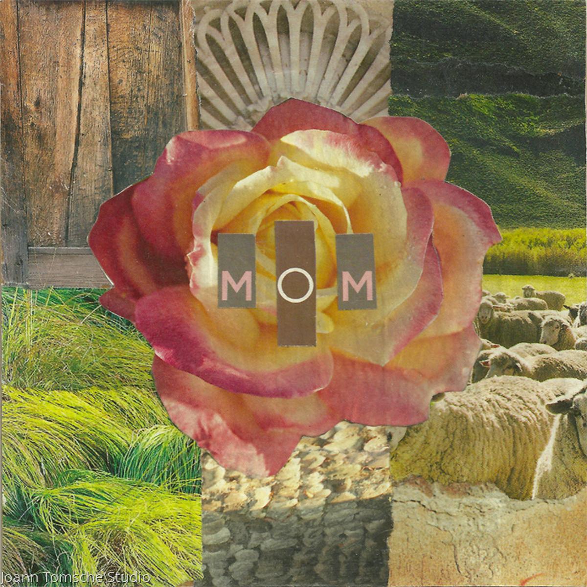 Grassy Rose Mom art tile (large view)