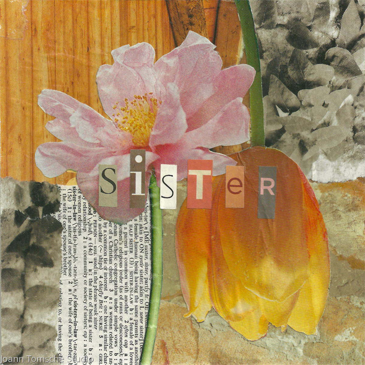 Sister Blooms Art Tile (large view)