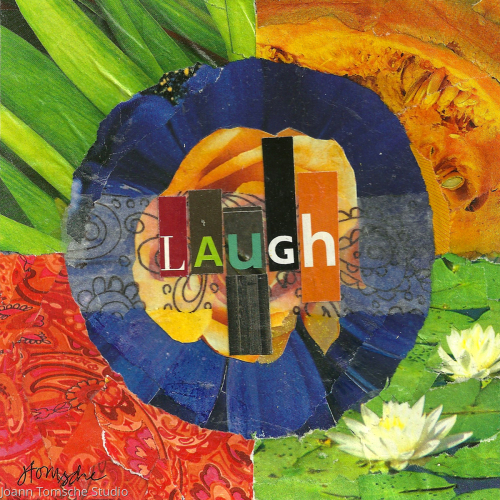 Laugh art tile by Joann Tomsche Studio