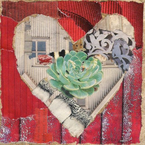 Windows into My Heart art tile by Joann Tomsche Studio