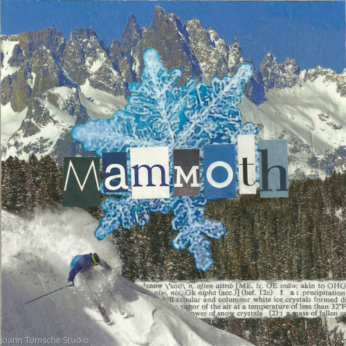 Mammoth Snow art tile