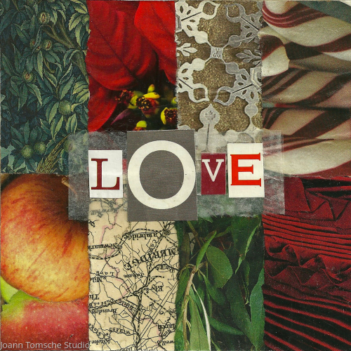Holiday Love art tile by Joann Tomsche Studio