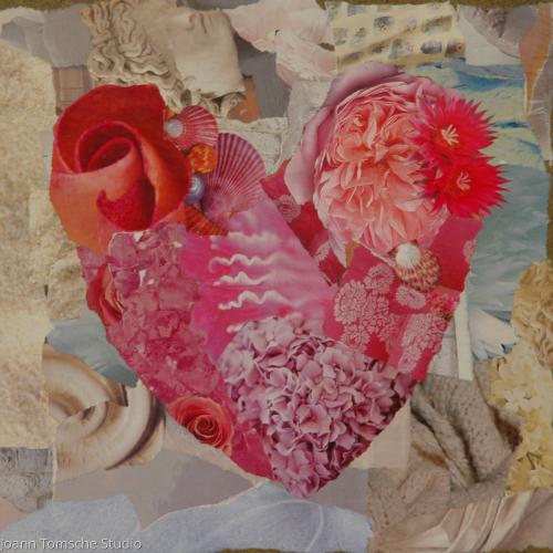 Heart Blossoms art tile