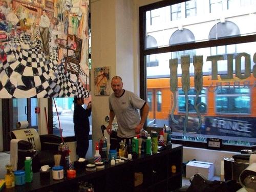 barber art installation