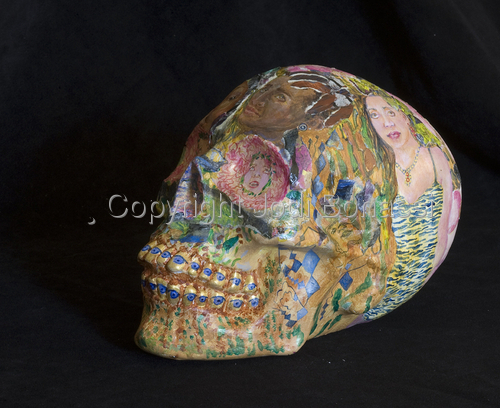 Temporary So Soon, detail of 2011 skull (large view)