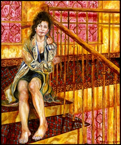 Girl On the Stairs (large view)