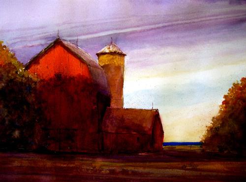 Bay Barn by joemayerart
