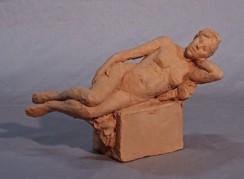 sketch, reclining figure 1 by Jo Fassnacht