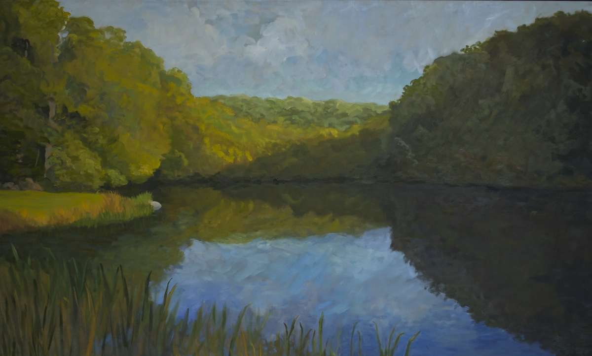 Fancher Road Series - The Pond, Early Morning, September (large view)