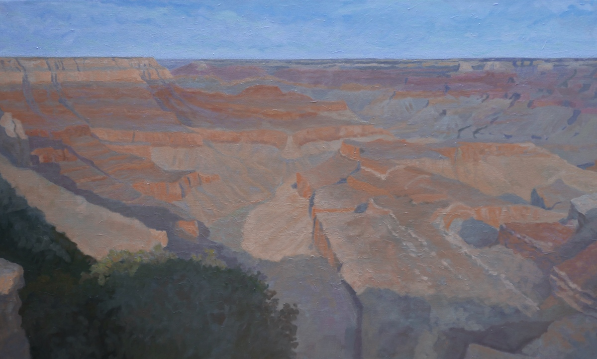 Looking West From Grand View Point, The South Rim Of The Grand Canyon (large view)