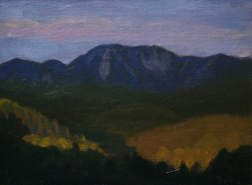 Giant Mountain - Seen from the Porch of The Ausable Club Prior to Dining