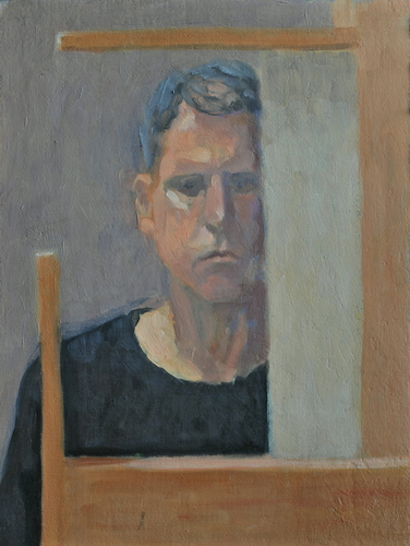 Self-Portrait Behind the Easel
