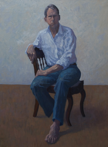 The Barefoot Man  -  Self-Portrait by John Whitton Bria